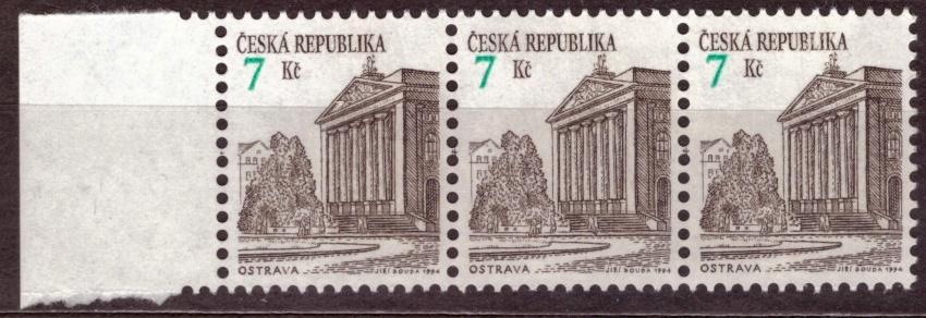 POF. 60 - OSTRAVA, KRAJ. 3-PÁSKA, VV POSUN ČÍSLICE NAHORU (S1767)