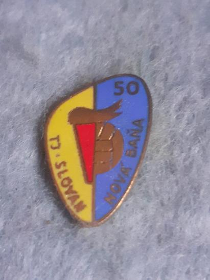 Odznak TJ Slovan Baňa 50 let - Faleristika