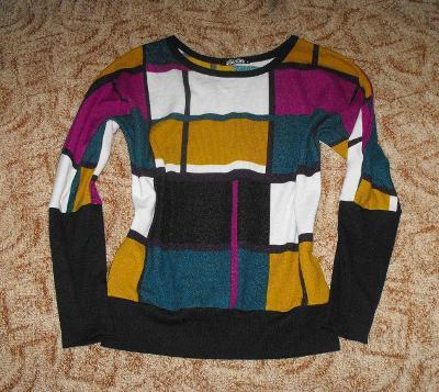 Barevný krásný svetřík vel. M