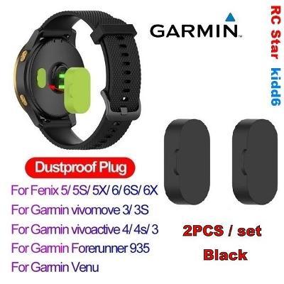 Silikonová prachová záslepka pro GARMIN - BLACK 2Ks