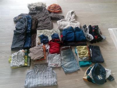 Balík oblečení chlapec 30 ks cca 1-2 roky