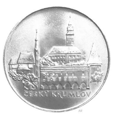 Stříbrná mince 50 Koruna 1986 město Český Krumlov - perfektní stav!