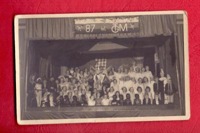 1937 - REAL FOTO ZE SLAVNOSTI 87. NAROZENIN T G MASARYKA