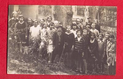 1929 REAL FOTO ŠKOLNÍ VÝLET