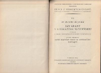 Arany v literatúre slovenskej, 1924   Řecký román dobrodružný 1925 2ks