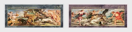 Lichtenštejnsko 2020 Známky 1992-1993 ** Rubens umění lov mytologie