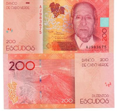 Kapverdy 200 escudo 2019 P-New UNC Novinka