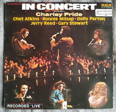 2LP IN CONCERT WITH CHARLIE PRIDE(1975)ORIG USA Country.EX++ TOP STAV!