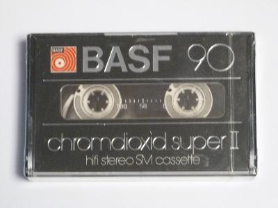 kazeta Basf Chromdioxid super 90, typ II, 1979-80