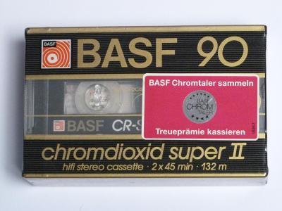 kazeta 2 pack Basf Chromdioxid super 90, typ II, 1985-87