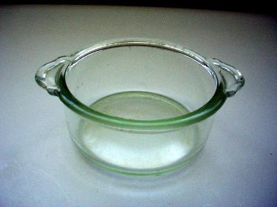 Stará zapékací miska z varného skla PALEX