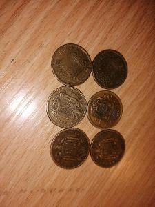 Španělské mince 6 kusů