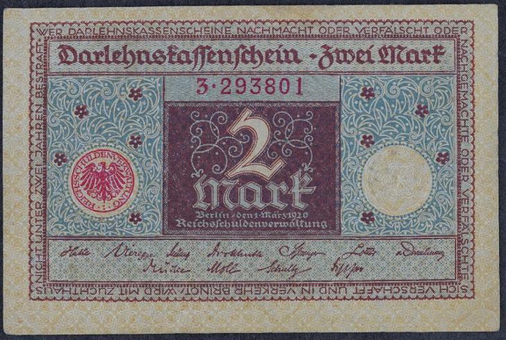 2 Mark 1920 s.3 - Bankovky