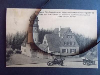 Karlovy Vary Karlsbad Vyhlídka princezna Zity Blatenský vrch automobil