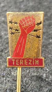 TEREZÍN - II.SV. VÁLKA - ÚSTECKÝ KRAJ - HERALDIKA CZ - ODZNAK