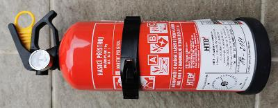 Práškový hasicí přístroj, 1 kg. abc s držákem a manometrem