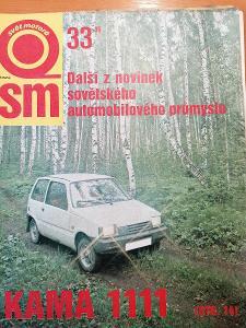 Časopis Svět Motorů 1986 /33, Kama 1111