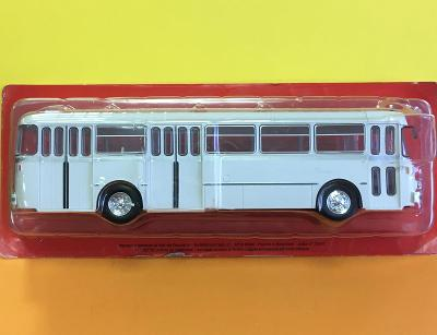 Autobus Berliet PLR-10MU- bílá - Hachette 1/43 (D4-A1)