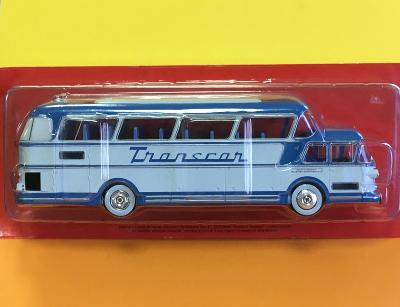 Autobus Isobloc 656 - modrošedá kombinace - Hachette 1/43 (D4-A2)
