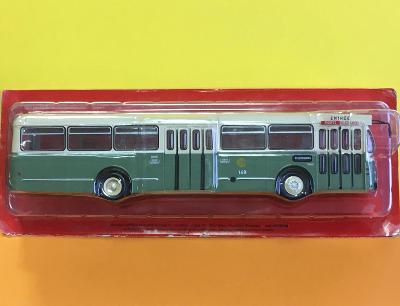 Autobus Brossel - zelenošedá kombinace  - Hachette 1/43 (D4-A4)