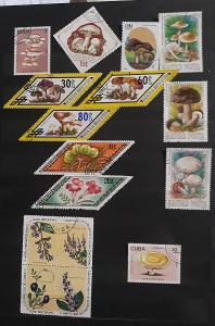 Sada známek flora - různá známky i země původu