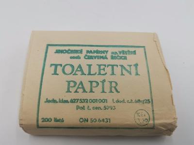Retro toaletní papír - 200 listů . nové nepoužité balení:))