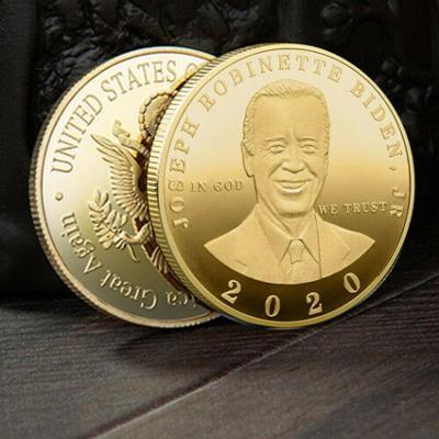 Medaile JOSEPH BIDEN 2020 erb orlice USA pozlacená kopie