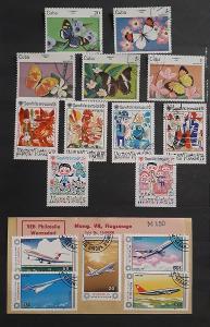 Sada známek č.11 - různé známky- různá tématika i země původu