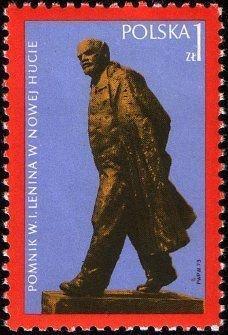 Polsko 1973 Známky Mi 2245 ** Lenin památník Nová Huť Krakov