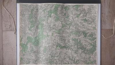 Vojenská mapa 4059-Bruntál-Budišov-Vítkov-Mor.Beroun-Hor.Benešov-1935