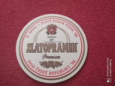 Zlatopramen 3 místo - Zlatý pohár Pivex tácek