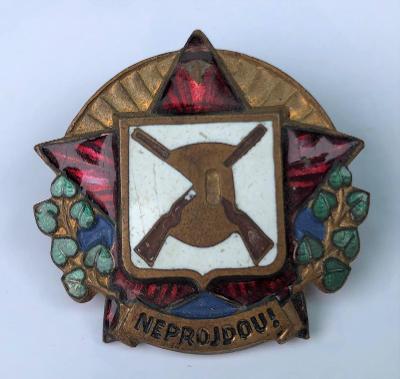 Starý vojenský odznak - vyznamenání - řád - NEPROJDOU - RUDÁ HVĚZDA