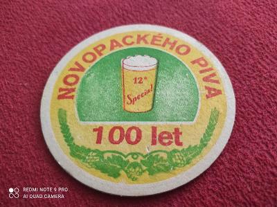 Novopackého piva  100 let tácek