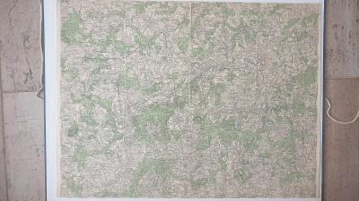 Vojenská mapa 4254-Pelhřimov-Kamenice nad Lipou-Pacov-Černovice 1927