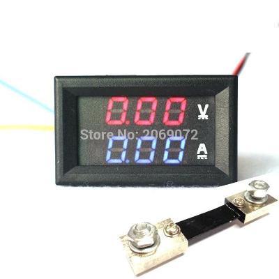 Digitální Voltmetr a Ampermetr DC 400V a 0-100A