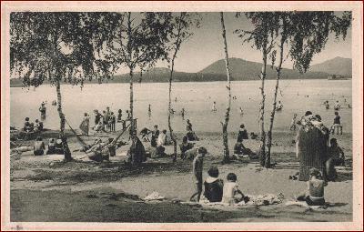 Doksy (Hirschberg) * pláž, lidé, koupání, jezero * Česká Lípa * M318