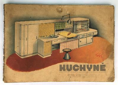 Starý velký reklamní katalog - kuchyně - 1. republika - architekt