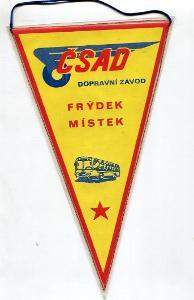 ČSAD Frýdek Místek 1974 - vlaječka retro