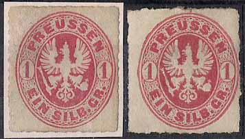 PREUSSEN ( Prusko ) Mi. 16a* + 16b* ! Vysoký katalog !