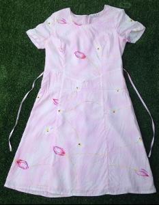 Krásné růžové šaty  XL/42 - Top stav
