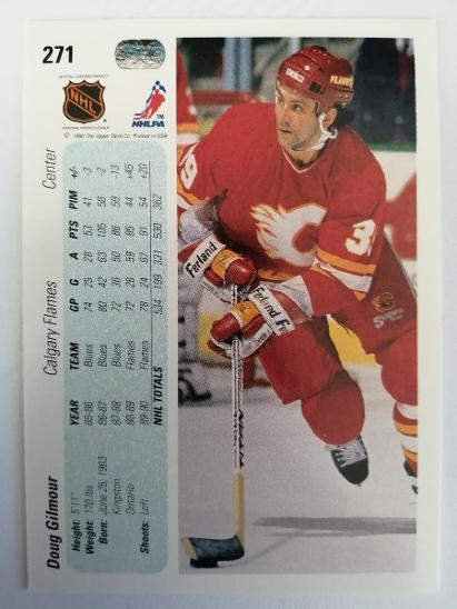Doug Gilmour #271 Calgary Flames 1990/1991 Upper Deck  - Sportovní sbírky