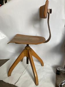 Bauhaus,Retro,Industriál, Otočná Židle model 350, cca-1930-Eiermann!!!