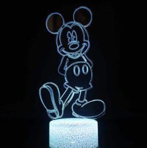 Mickey Mouse - LED lampa 3D, různé barvy Disney