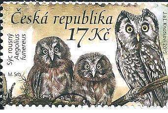 Ochrana přírody-Sovy 2015, raž. zn. smytá s raz. FDC, NL. k.č. 854.