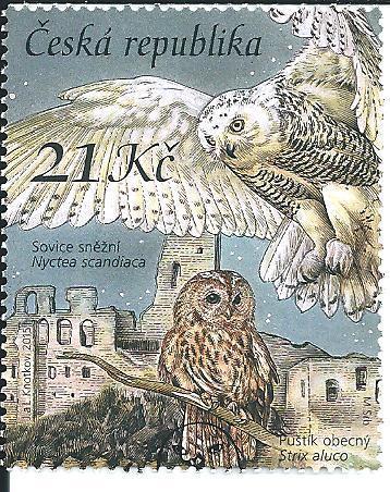 Ochrana přírody-Sovy 2015, raž. zn. smytá s raz. FDC, NL. k.č. 855.