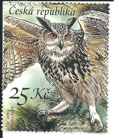 Ochrana přírody-Sovy 2015, raž. zn. smytá s raz. FDC, NL. k.č. 856.