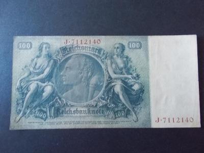 Bankovka Německo Říše 100 Marek  Reichsbanknote sto DM Hundert Mark