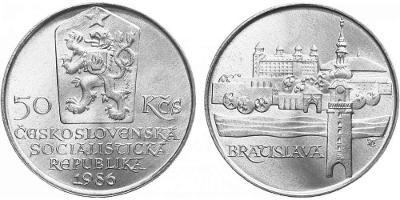 💥 stříbrná pamětní mince 50 Kčs 1986 - Bratislava - TOP !