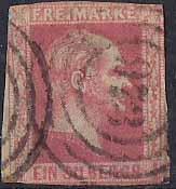 PREUSSEN ( Prusko ) Mi. 6, razítkovaná