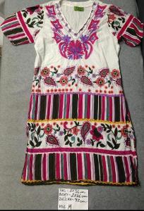 Barevné bavlněné mini šaty - vel. M - Top stav